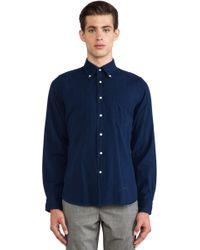 Gant Rugger Blue Indigo Oxford - Lyst
