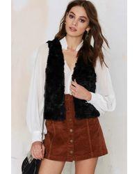 Nasty Gal | Solid Love Faux Fur Vest - Black | Lyst