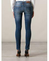 Ermanno Scervino Stone Wash Skinny Jeans - Lyst