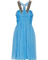 Matthew Williamson Embellished Silk-chiffon Dress - Lyst