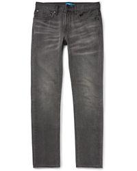 Club Monaco - Slim-fit Washed-denim Jeans - Lyst