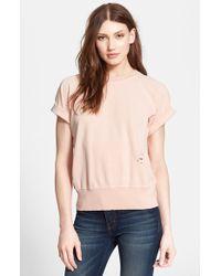 Current/Elliott Women'S 'The Rolled Sleeve' Cotton Sweatshirt - Lyst