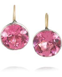 Olivia Collings - Silver Crystal Earrings - Lyst