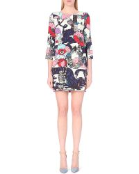 Mary Katrantzou Graphic-Print Stretch-Crepe Dress - Lyst
