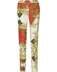 Just Cavalli Paneled Crepe Straightleg Pants - Lyst