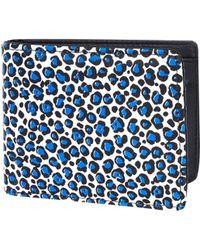 River Island Blue Neon Leopard Print Wallet - Lyst