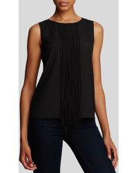 Calvin Klein Fringe Trim Top black - Lyst