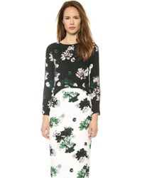 A.L.C. Schoolly Top Black Floral - Lyst