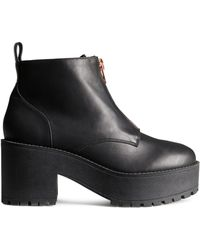 H&M Platform Boots - Lyst