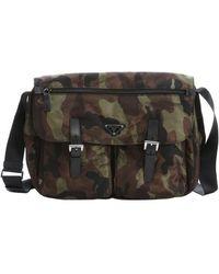 Prada Green and Black Camouflage Nylon Flap Front Messenger Bag - Lyst