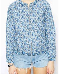 Jack Wills - Liberty Print Bomber Jacket - Lyst