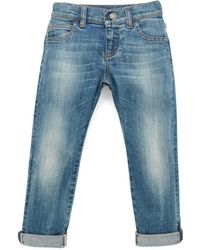 Gucci Faded Denim Blue Jeans - Lyst