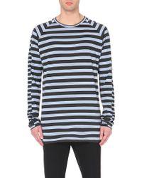 Haider Ackermann Striped Cotton-Jersey Top - For Men - Lyst