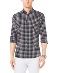Michael Kors Tailored Check Cotton Shirt - Lyst