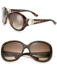 Gucci | Square 59mm Crystal Horsebit Sunglasses | Lyst
