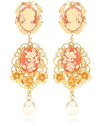 Dolce & Gabbana | Embellished Clip-on Earrings | Lyst