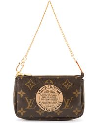 Louis Vuitton Brown Pouch - Lyst