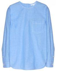 Alexander Wang Long Sleeve Chambray Shirt - Lyst