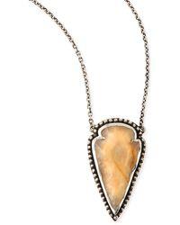 Pamela Love Arrowhead Pendant Necklace - Lyst