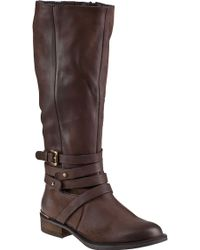 Steve Madden Albany Riding Boot Brown Leather brown - Lyst