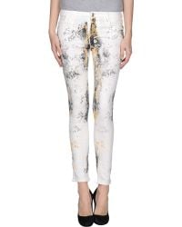 Guess Denim Trousers white - Lyst