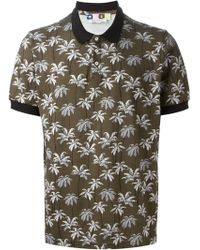 MSGM Palm Tree Polo Shirt - Lyst