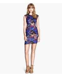 H&M Multicolor Patterned Dress - Lyst