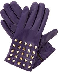 Valentino Studded Leather Gloves - For Women - Lyst