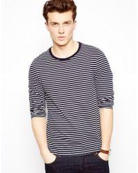 Asos Stripe Long Sleeve Top - Lyst