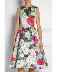 Mary Katrantzou Astere Printed Satin Dress - Lyst