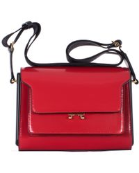 "Marni Red ""Metal Trunk"" Bag red - Lyst"