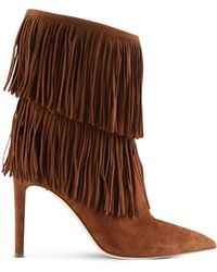 Sam Edelman | Fringed Suede Ankle Boots | Lyst