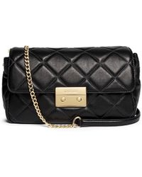 Michael Kors 'Sloan' Large Quilted Leather Shoulder Bag black - Lyst