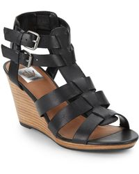 Dv By Dolce Vita Pickwick Leather Wedge Sandals - Lyst