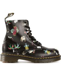 Dr. Martens Pascal Tattoo Print Boots - Lyst