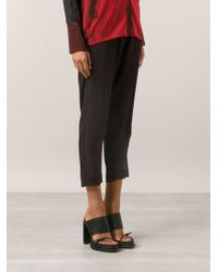 Ilaria Nistri Black Cropped Trousers - Lyst