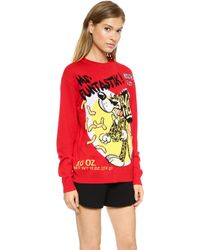 Moschino Merino Mr Fantastik Sweater Red Multi - Lyst