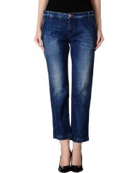 See By Chloé Denim Trousers - Lyst