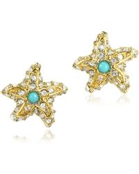 Juicy Couture Pave Starfish Stud Earrings - Lyst