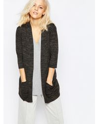 SELECTED - Sabine Cardigan In Khaki Marl - Lyst
