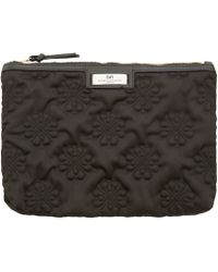 Day Birger Et Mikkelsen Black Gweneth Sign Small Quilted Pouch - Lyst