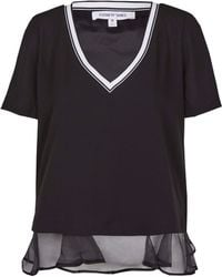 Elizabeth And James Black New Tierney Crepe Top - Lyst