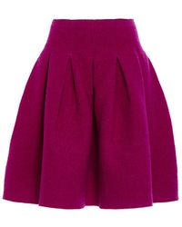 Oscar de la Renta Full Pleated Skirt - Lyst