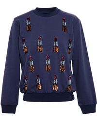 House Of Holland Sweatshirt with Lipstick Embroidery - Lyst