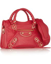 Balenciaga - Holiday Collection City Mini Textured-leather Shoulder Bag - Lyst