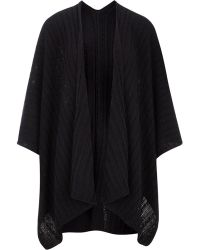 Cc | Navy Cable Knit Wrap | Lyst
