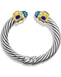 David Yurman Renaissance Bracelet with Blue Topaz Iolite Gold - Lyst