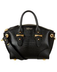 Alexander McQueen Mini Legend Cross Body Bag black - Lyst