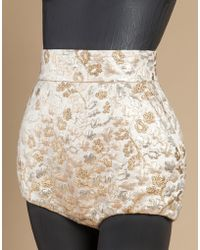 Dolce & Gabbana | gold Panties In Lurex Brocade | Lyst