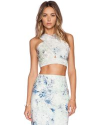 Hunter Bell Marcy Crop Top - Lyst